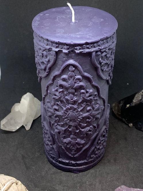 Floral Cylinder Candle Large