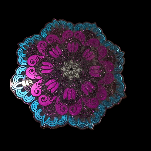 Mandala Resin Candle Plate