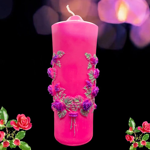 Flower Wreath Candle