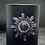 Thumbnail: Black Glass Candle Medium Sun