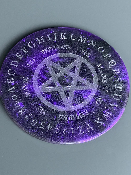 Round Resin Ouija Candle Board
