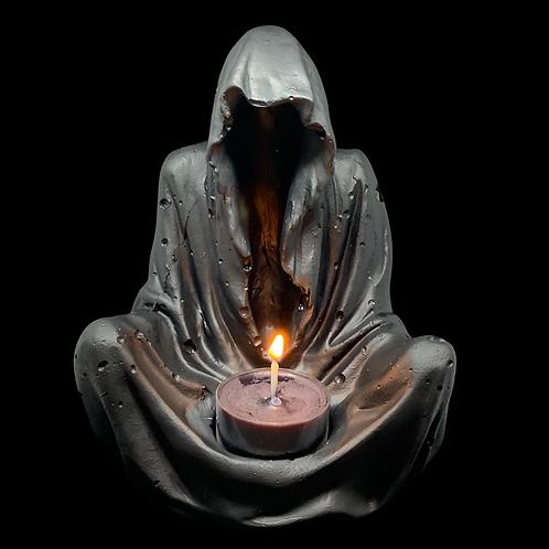 Grim Reaper Tea Light Holder, concrete