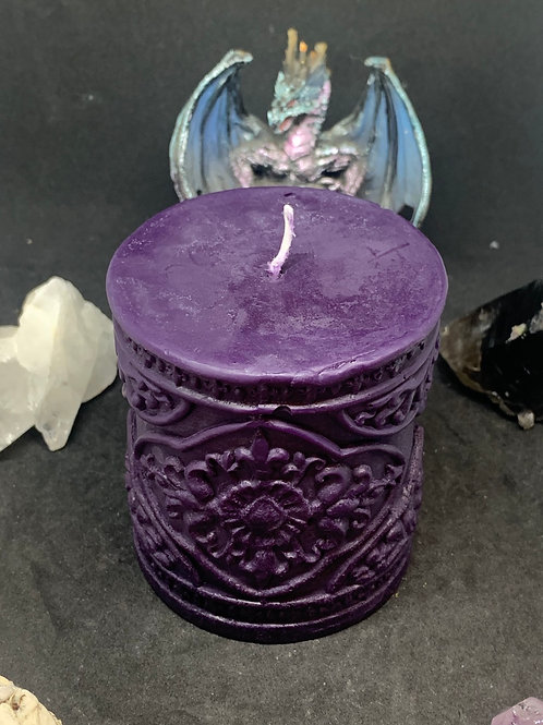 Floral Cylinder Candle Small