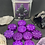 Thumbnail: Metal Tin Gift Box with Lid and 10 Flower Wax Melts