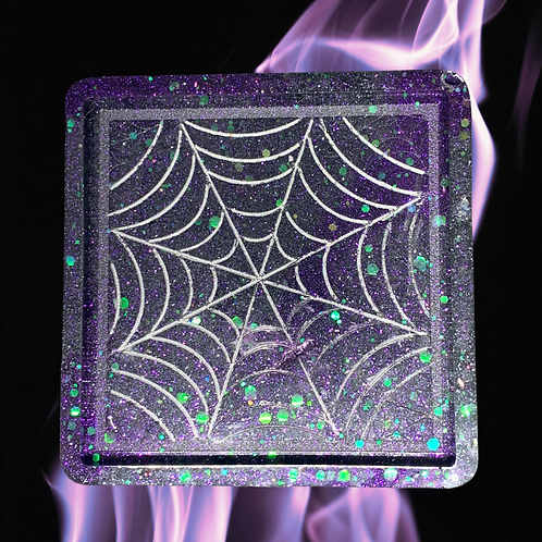 Web Resin Candle Tray