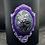 Thumbnail: Black Glass Candle Medium Skull Woman Cameo