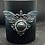 Thumbnail: Black Glass Candle Medium Moth Eye