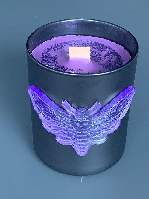 Moth Glass Candle Medium