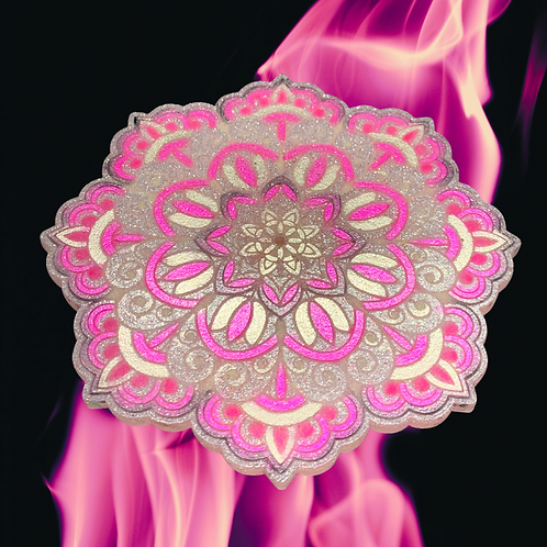 Mandala Resin Candle Plate
