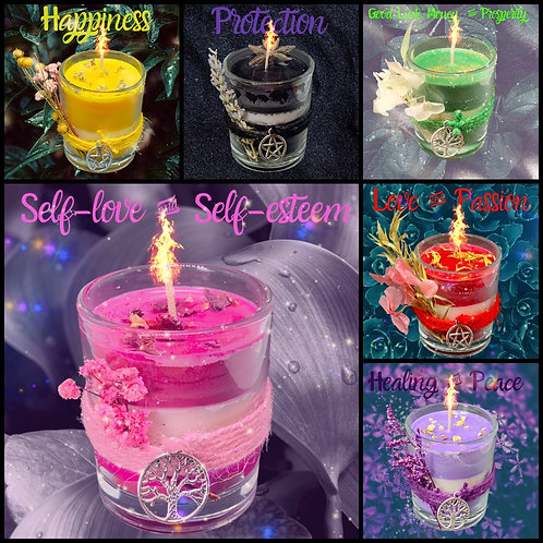 Spell Candles - 9cl glass soy candles
