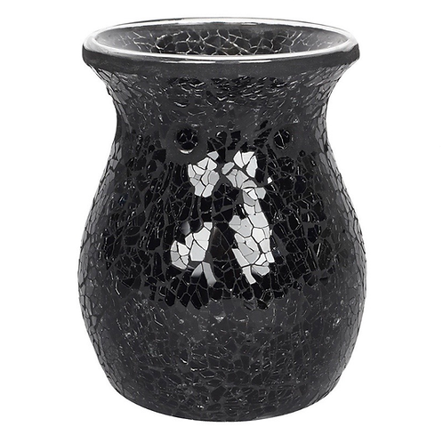 Large Black Crackle Burner + 1x Bend'n'Snap Wax Melts