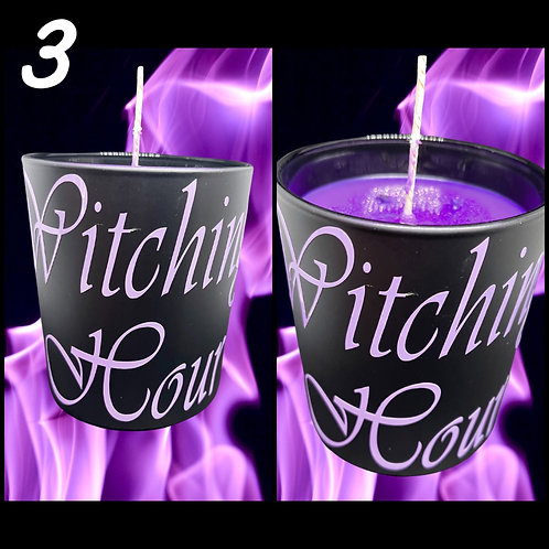 Witchy Vibes Black Glass Candle Large