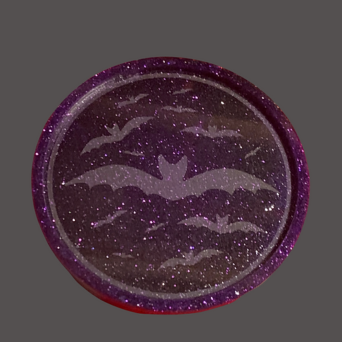 Bat Resin Candle Plate