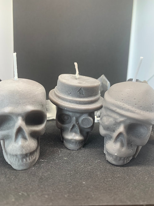 3D Skull Candle Set of 3