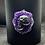 Thumbnail: Black Glass Candle Medium Skull Cameo