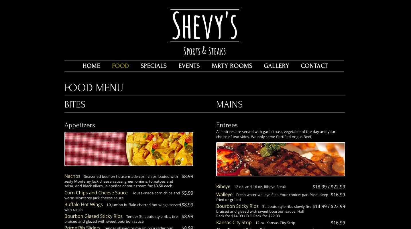 Website Design Omaha - Shevy's