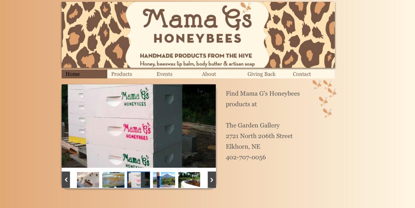 Website Design - Mama G's Honey Bees