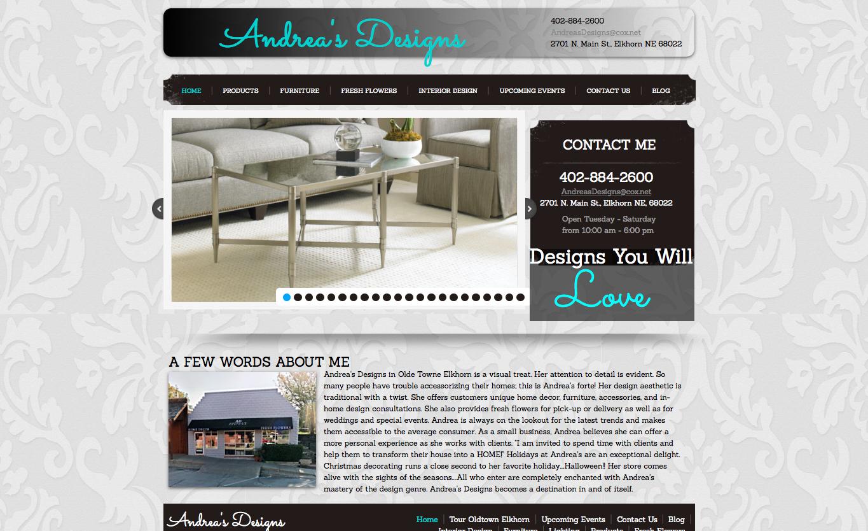 Website Design - Andrea's Designs
