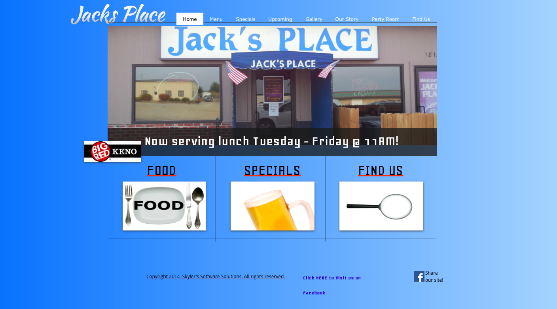 Website Design - Jack's Place Elkhorn
