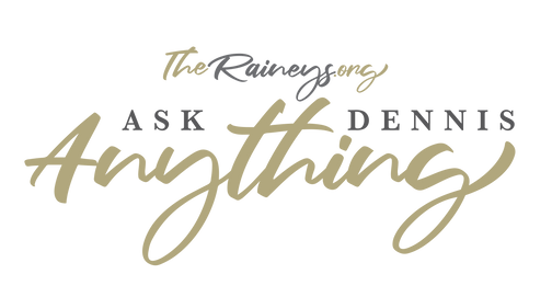 Ask Dennis Anything Logo Graphic on Whit