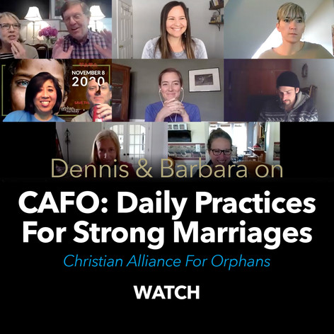 CAFO Daily Practices For Strong Marriage