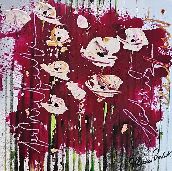 pavots#fleurs#rouge#art#abstrait#exposition#artiste#blanc