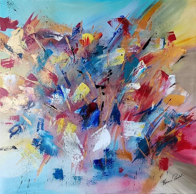 Arlequin, Multicolore; Art,Décoration,Artiste, Peintre, Florence Praadat