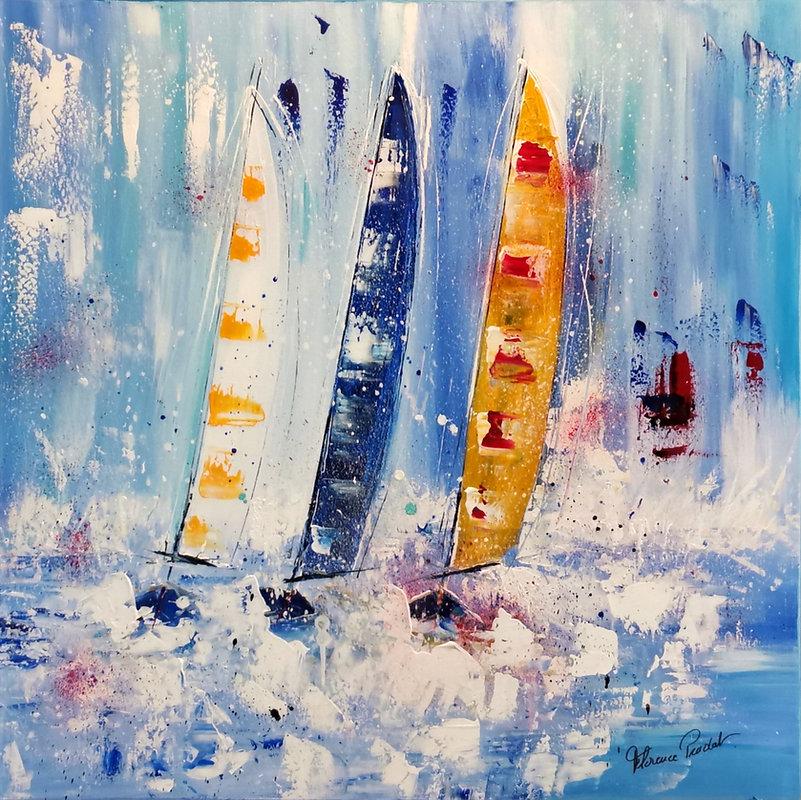 RÉGATE Voiliers peinture acrylique