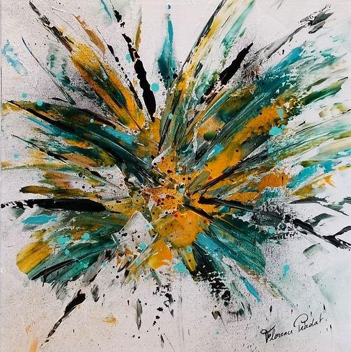 Carnaval, masque, plume jaune et vert .Venise ,Arts,Décoration