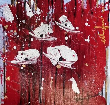 coquelicots#fleurs#rouge#art#abstrait#exposition#artiste#