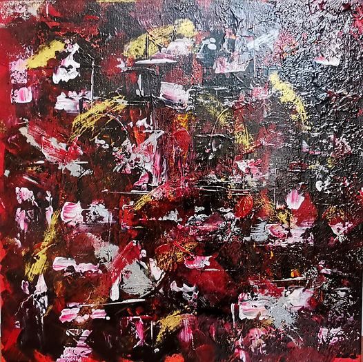 peinture acrylique#artiste#rouge#exposition#art