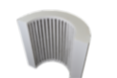 Ceramic Vacuum Formed Semi-Cylinder Heater