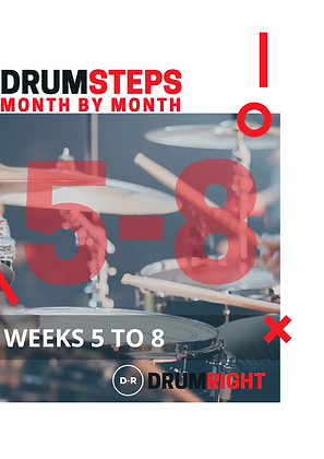 DrumSteps Weeks 5 to 8