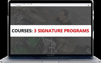 Three Signtaure Programs Macbook Screen.