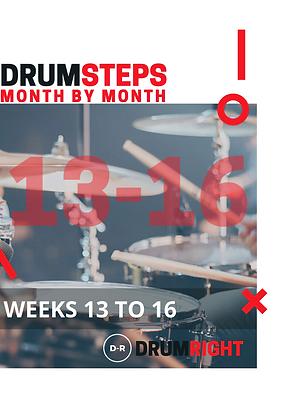 DrumSteps Weeks 13 to 16