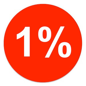 The power of 1%