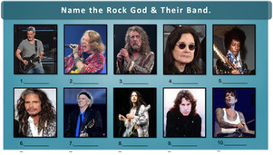 Name the Rock God Trivia Picture Round