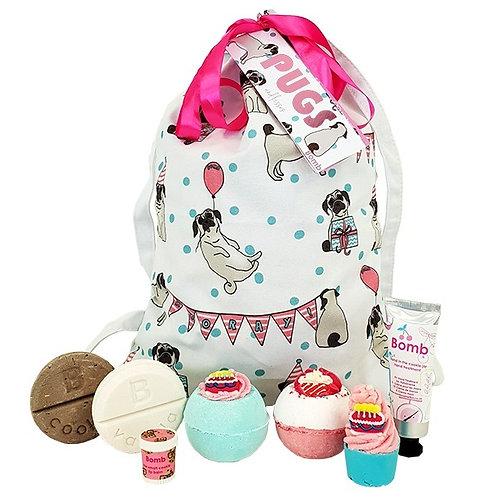 Pugs & Kisses Wash Bag Gift Pack