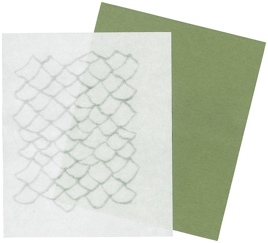 美濃和紙の懐紙(森の中で、松ぼっくり)