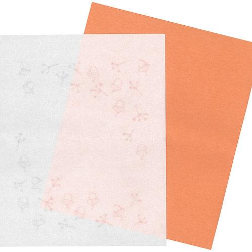 美濃和紙の懐紙(収集、自然の中のひときれ)