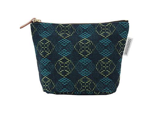 デニム産地で作った織りの舟形ポーチ【バスケット】