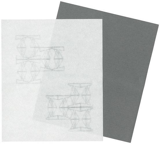 美濃和紙の懐紙(太陽光とコンクリート)