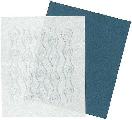美濃和紙の懐紙(雪のパターン)