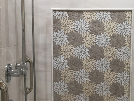Dahlia Mosaic in the Shower