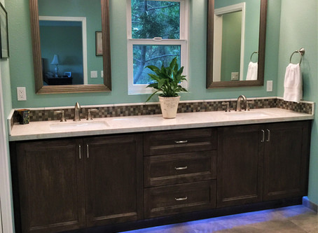 LED Strip Lighting in and around the Vanity