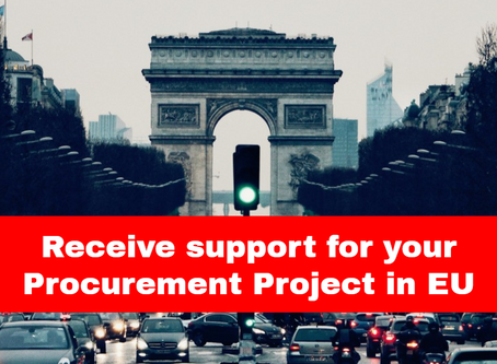 Receive free hands-on and tailored support if you are an EU public procurer
