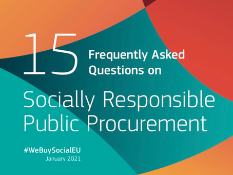 15 Frequently Asked Questions on Socially Responsible Public Procurement