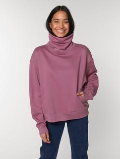 Unisex Sweatshirt mit Stehkragen