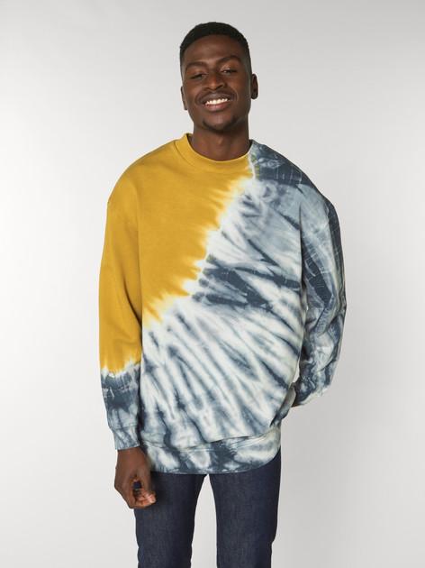 unisex tie and dye crew neck sweatshirt