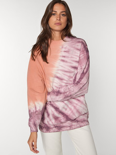 unisex tie and dye crew neck sweatshirt